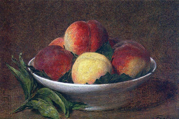 Henri Fantin-Latour Peaches in a Bowl - Canvas Art Print