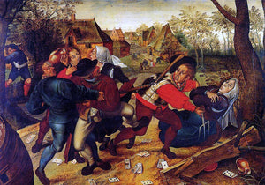 The Younger Pieter Bruegel Peasant Brawl - Canvas Art Print