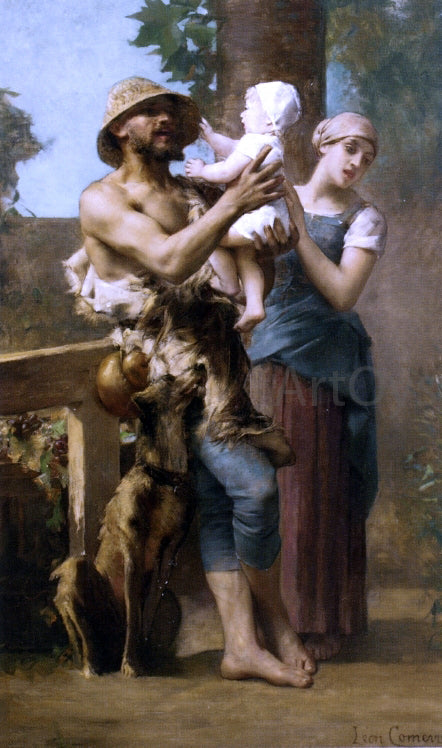 Leon Francois Comerre Peasant Family - Canvas Art Print