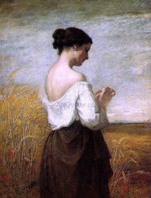 William Morris Hunt Peasant Girl - Canvas Art Print
