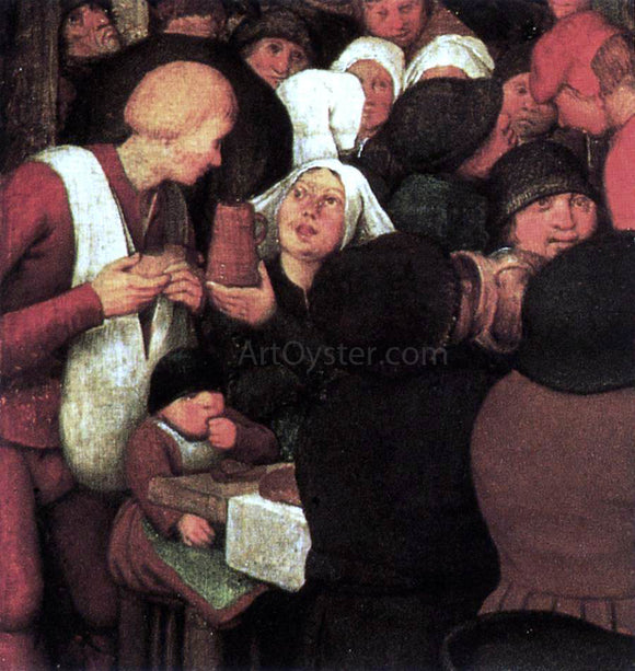 The Elder Pieter Bruegel Peasant Wedding (detail) - Canvas Art Print