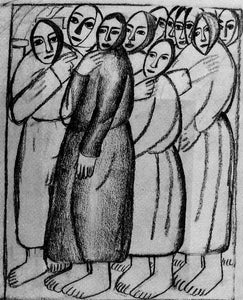 Kazimir Malevich Peasant Women in a Church - Canvas Art Print