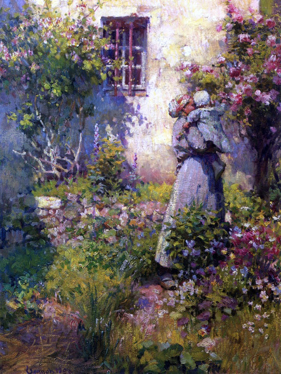 Robert Vonnoh Peasant's Garden - Canvas Art Print