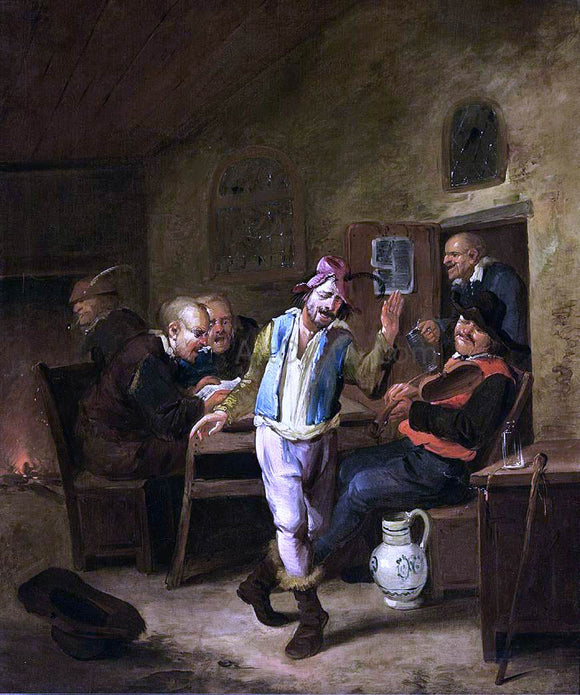 The Elder Egbert Jaspersz Van Heemskerck Peasants in a Tavern - Canvas Art Print