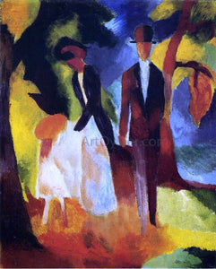 August Macke People by the Lake - Canvas Art Print