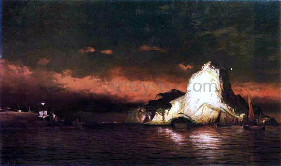 William Bradford Perce Rock, Belle Isle Straits - Canvas Art Print