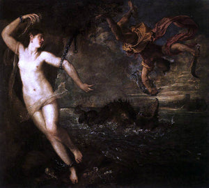 Titian Perseus and Andromeda - Canvas Art Print