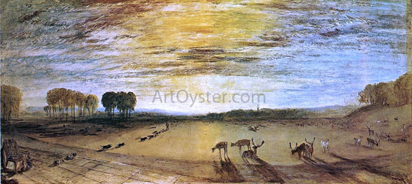 Joseph William Turner Petworth Park: Tillington Church in the Distance - Canvas Art Print