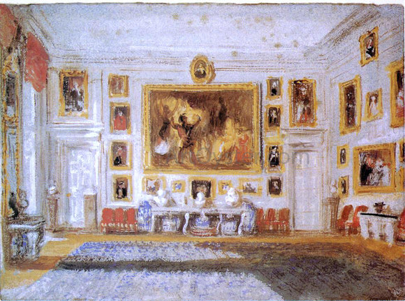 Joseph William Turner Petworth: the Drawing room - Canvas Art Print