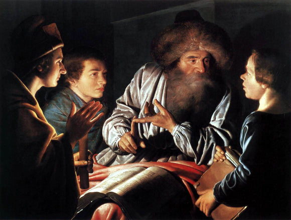 Willem Van der Vliet Philosopher and Pupils - Canvas Art Print
