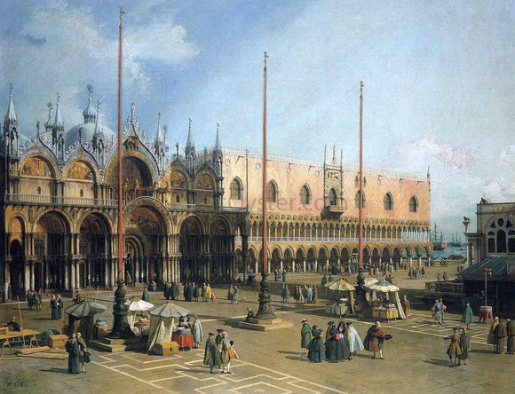 Canaletto Piazza San Marco - Canvas Art Print