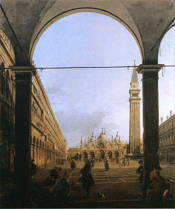 Canaletto Piazza San Marco, Looking East - Canvas Art Print