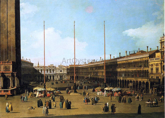 Canaletto Piazza San Marco, Looking Towards San Geminiano - Canvas Art Print