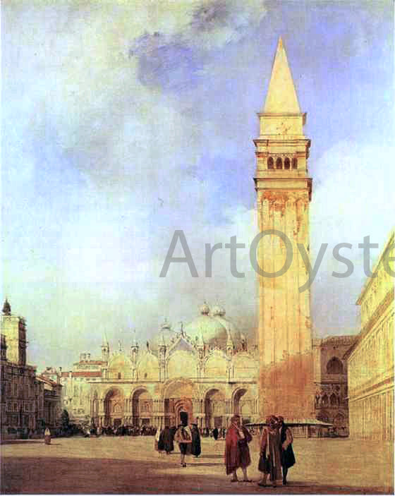 Richard Parkes Bonington Piazza San Marco, Venice - Canvas Art Print