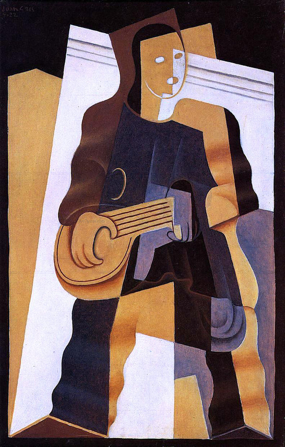 Juan Gris Pierrot - Canvas Art Print