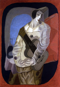 Juan Gris Pierrot with Guitar - Canvas Art Print