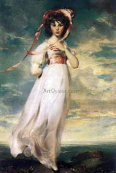 Sir Thomas Lawrence Pinkie (Sarah Barrett Moulton) - Canvas Art Print