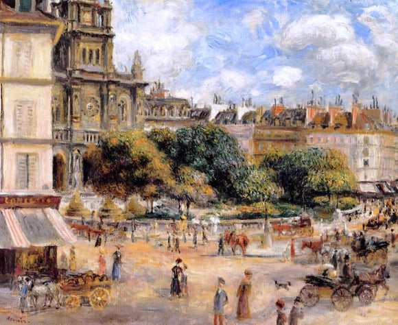 Pierre Auguste Renoir Place de la Trinite - Canvas Art Print