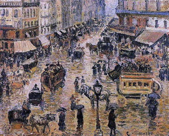 Camille Pissarro Place du Havre, Paris; Rain - Canvas Art Print
