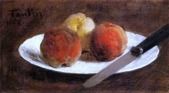 Henri Fantin-Latour Plate of Peaches - Canvas Art Print