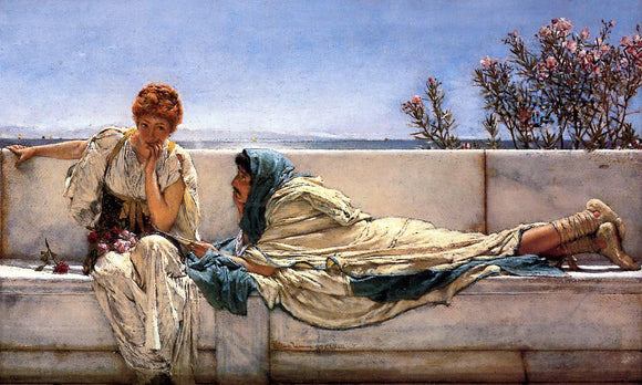 Sir Lawrence Alma-Tadema A Pleading - Canvas Art Print