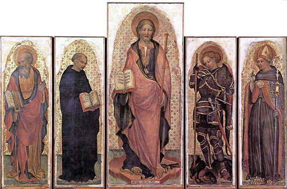 Michele Giambono Polyptych of St James - Canvas Art Print