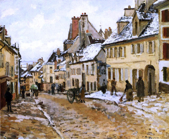 Camille Pissarro Pontoise, the Road to Gisors in Winter - Canvas Art Print