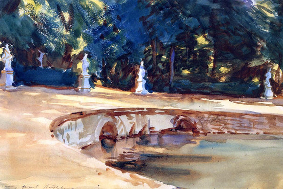 John Singer Sargent A Pool in the Garden of La Granja - Canvas Art Print