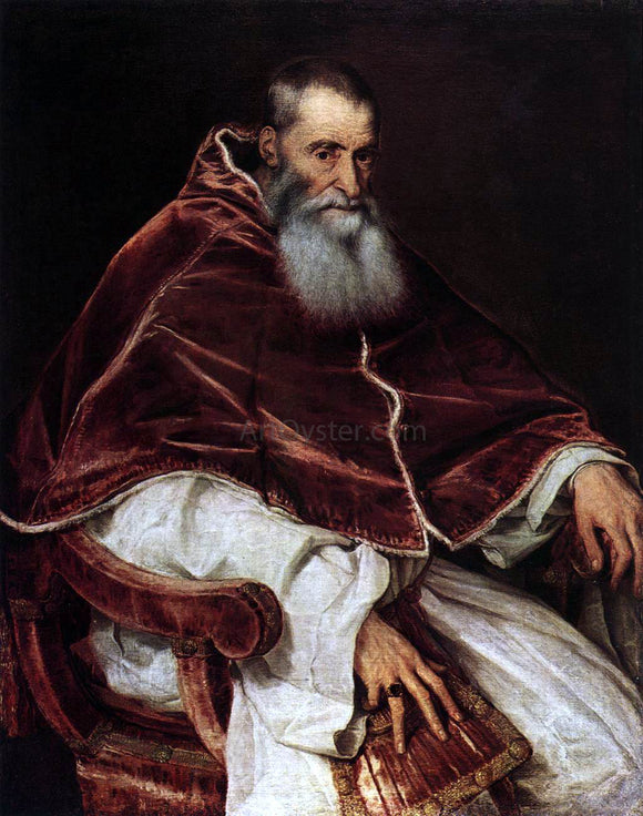 Titian Pope Paul III - Canvas Art Print