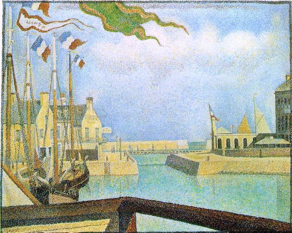 Georges Seurat Port-en-Bassin - Sunday - Canvas Art Print