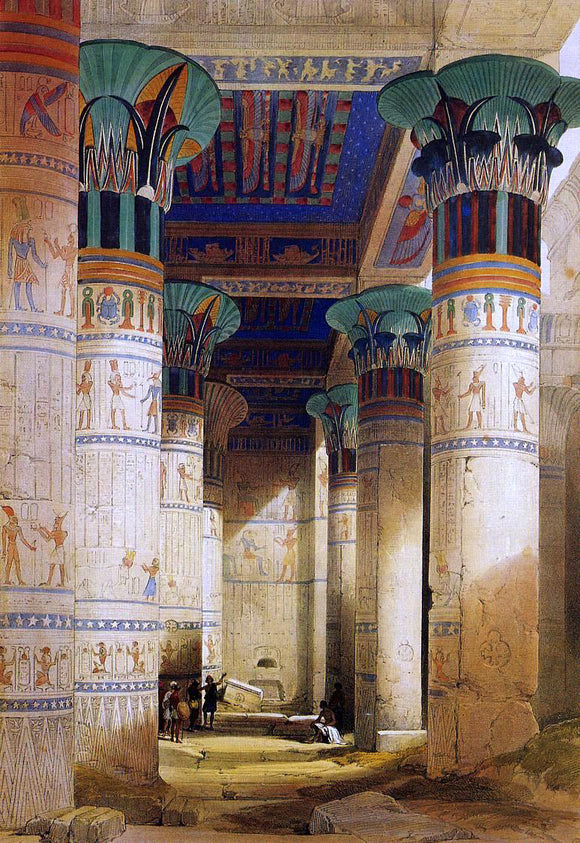 David Roberts Portico of the Temple of Isis at Philae - Canvas Art Print
