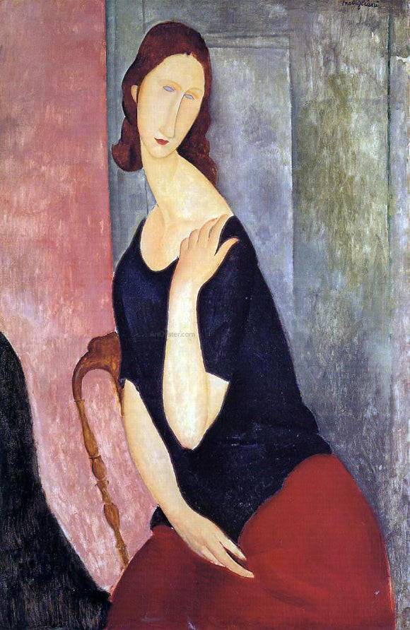 Amedeo Modigliani Portrait de Madame L - Canvas Art Print