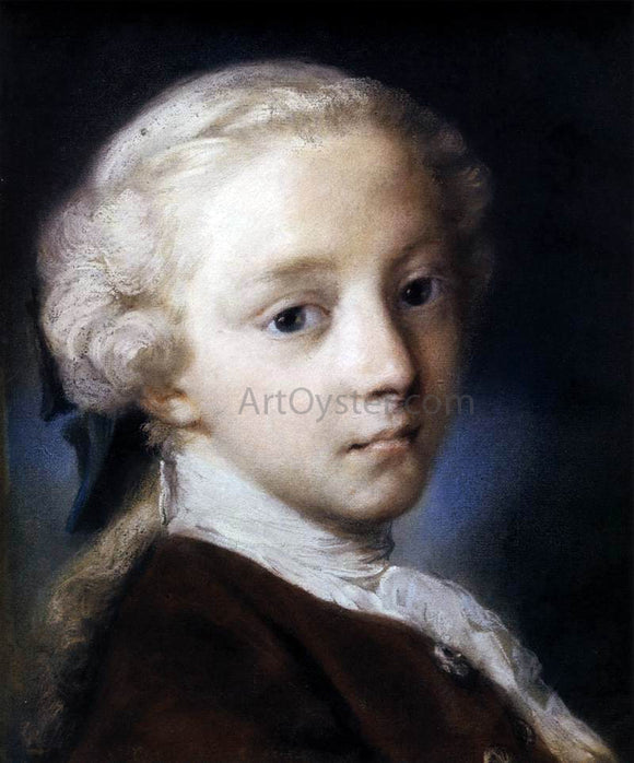 Rosalba Carriera Portrait of a Boy - Canvas Art Print