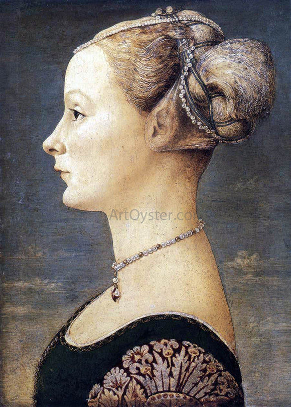 Piero Del Pollaiuolo Portrait of a Girl - Canvas Art Print
