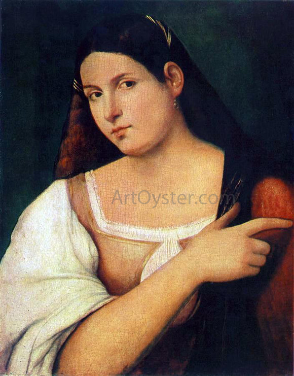 Sebastiano Del Piombo Portrait of a Girl - Canvas Art Print