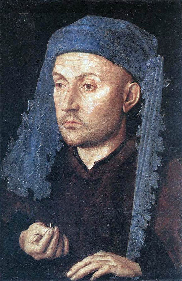 Jan Van Eyck Portrait of a Goldsmith (Man with Ring) - Canvas Art Print