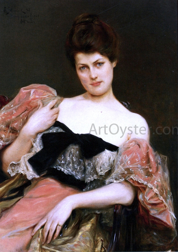 Julius LeBlanc Stewart Portrait of a Lady - Canvas Art Print