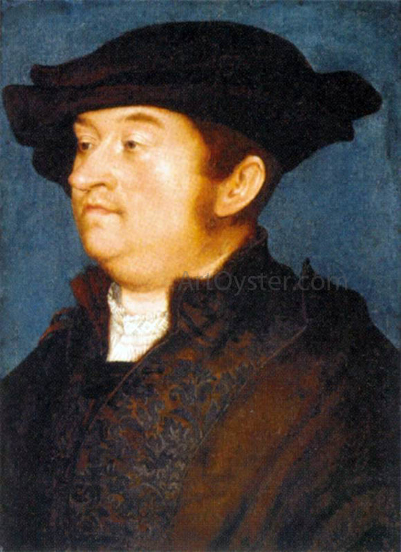 The Elder Hans Holbein Portrait of a Man - Canvas Art Print