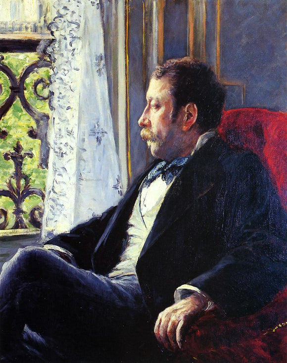 Gustave Caillebotte Portrait of a Man - Canvas Art Print
