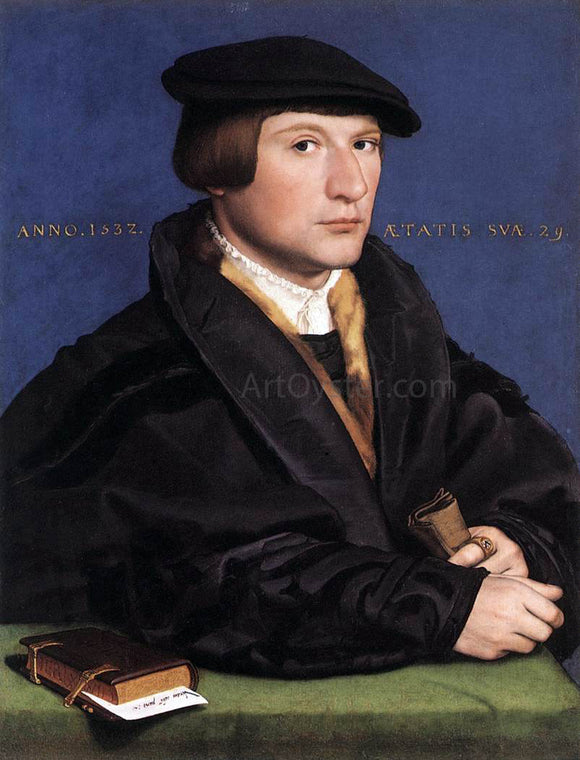 The Younger Hans Holbein Portrait of a Member of the Wedigh Family - Canvas Art Print