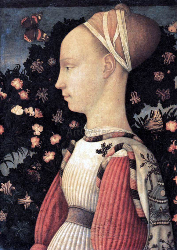 Antonio Pisanello Portrait of a Princess of the House of Este - Canvas Art Print