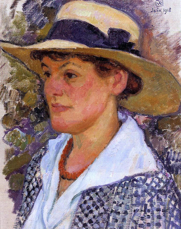 Theo Van Rysselberghe Portrait of a Woman - Canvas Art Print
