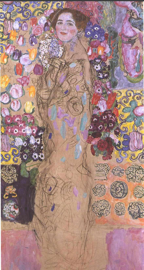 Gustav Klimt Portrait of a Women - Canvas Art Print