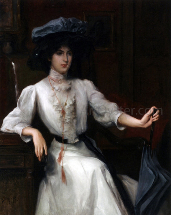 Julius LeBlanc Stewart Portrait of a Woman - Canvas Art Print