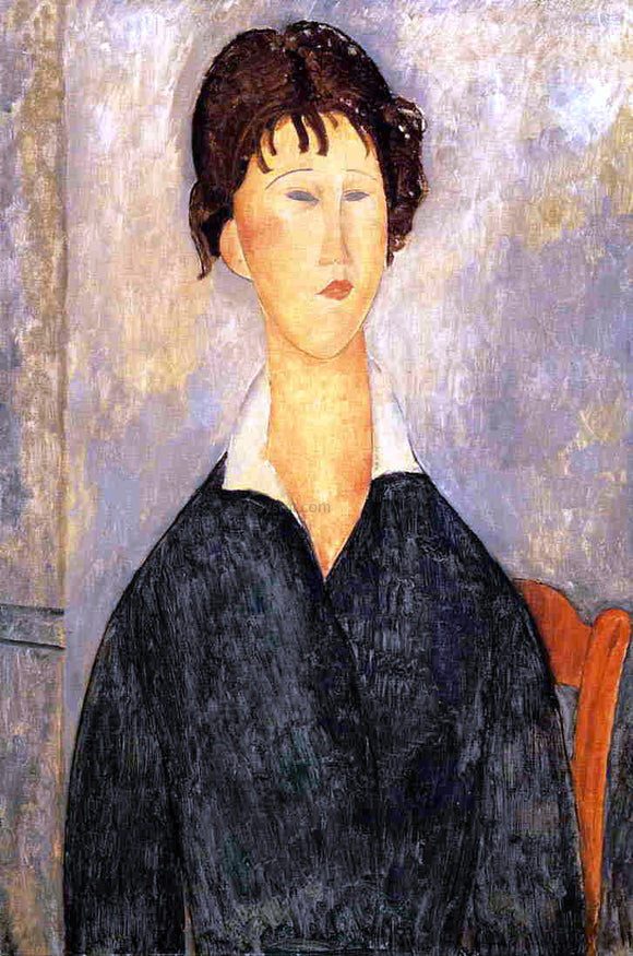 Amedeo Modigliani Portrait of a Woman with a White Collar - Canvas Art Print