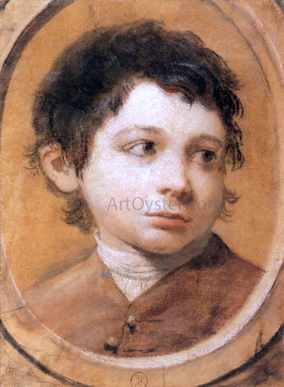 Ubaldo Gandolfi Portrait of a Young Boy - Canvas Art Print
