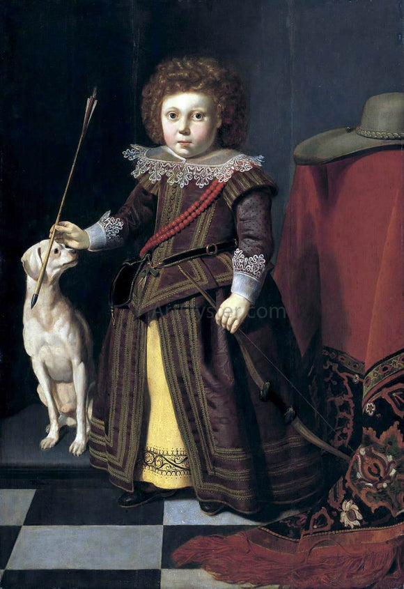Thomas De Keyser Portrait of a Young Boy - Canvas Art Print