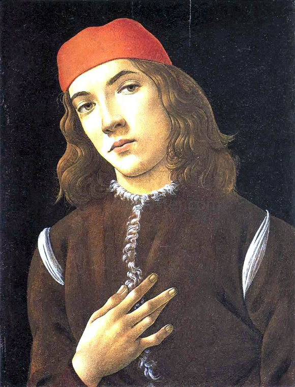 Sandro Botticelli Portrait of a Young Man - Canvas Art Print