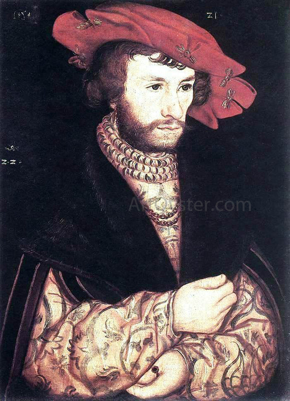 The Elder Lucas Cranach Portrait of a Young Man - Canvas Art Print