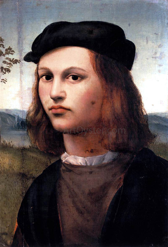 Ridolfo Ghirlandaio Portrait of a Young Man - Canvas Art Print